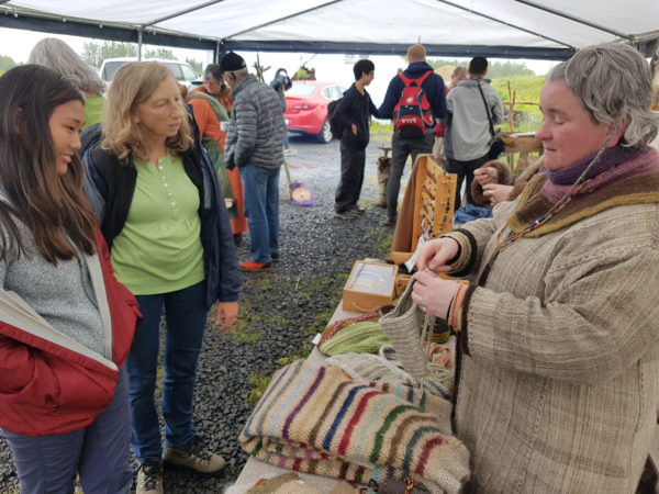 Students on study abroad in Iceland learning about the trade of viking women in Iceland