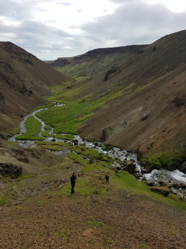 Students on Sustainable South Iceland study abroad program in Iceland exploring Icelandic landscape