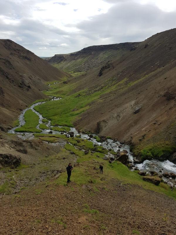 Students on Sustainable South Iceland study abroad program in Iceland exploring Icelandic landscape