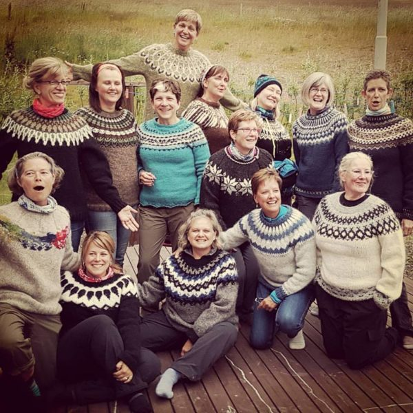 Women wearing Icelandic woolsweaters on all womens tour and solo female travel in Iceland
