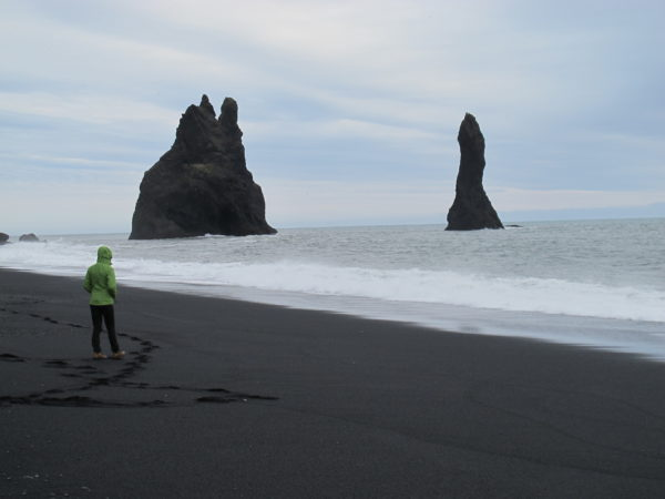Students on study abroad in Iceland learning about geology n Iceland