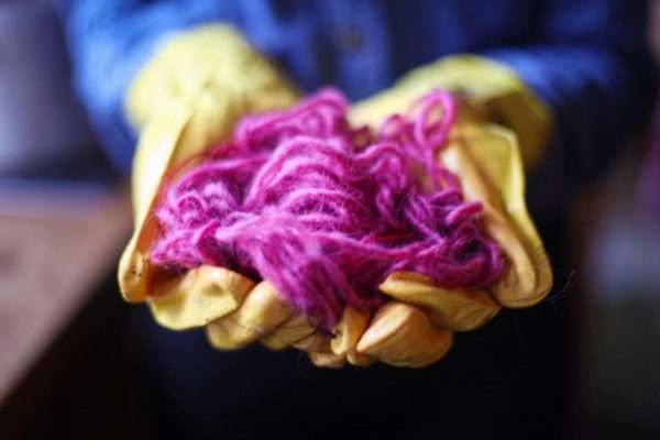 Knitting in Iceland, learning how to spin and dye your own wool