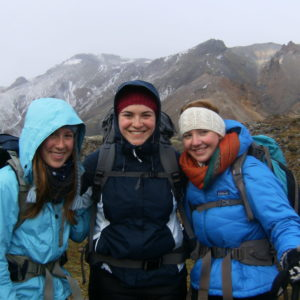 Students on study abroad program on sustainability in Iceland hiking in Iceland