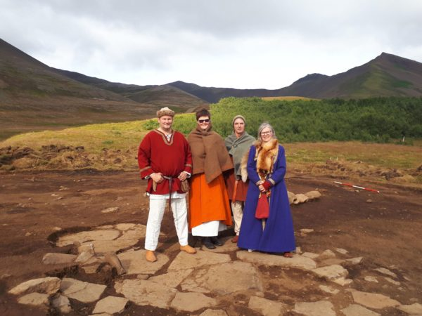 Students on study abroad in Iceland learning about viking settlers and settlement era in Iceland