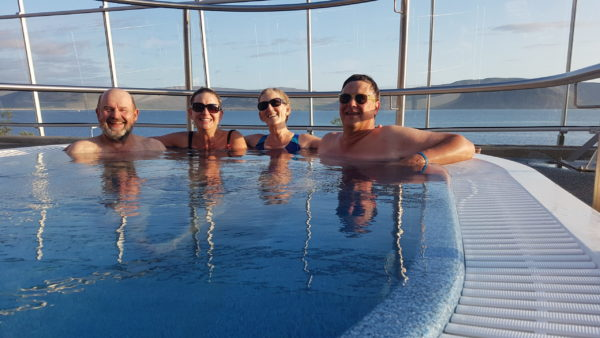 Hot tub in Iceland