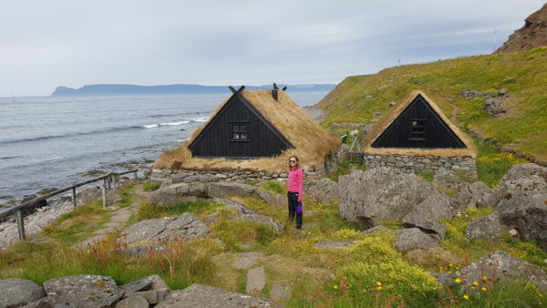 Students on study abroad in Iceland learning about the fisheries in the old times in Iceland