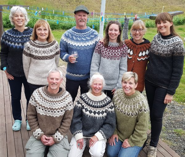 Knitting in Iceland, wearing your own Icelandic woolsweater