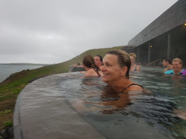 A group of women on all womens tour and solo female travel in Iceland
