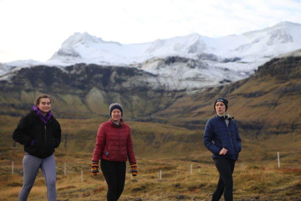 Students on a study abroad program in Iceland learning about mythology and folklore