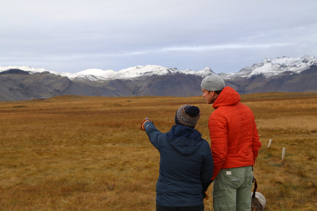 Students on study abroad program in Iceland learning about Climate Change: carbon sequestration and rewetting of wetlands
