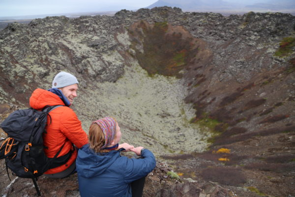 Students on a study abroad program in Iceland learning about geology in Iceland
