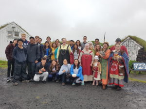 Students on study abroad in Iceland learning about the viking agein Iceland