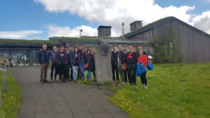 Students on study abroad in Iceland visiting a sustainable community in Iceland