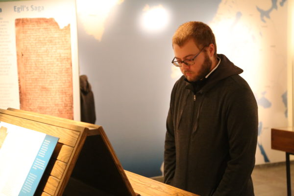 Students on study abroad in Iceland learning about the manuscripts in Iceland in Iceland