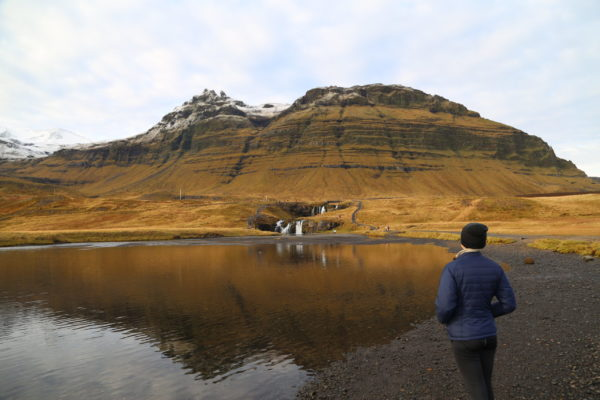 Students on a faculty led study abroad program in Iceland learning about geology in Iceland